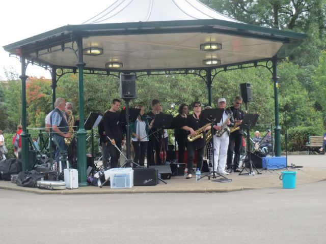 Guiseley jazz Band playing live in 2018