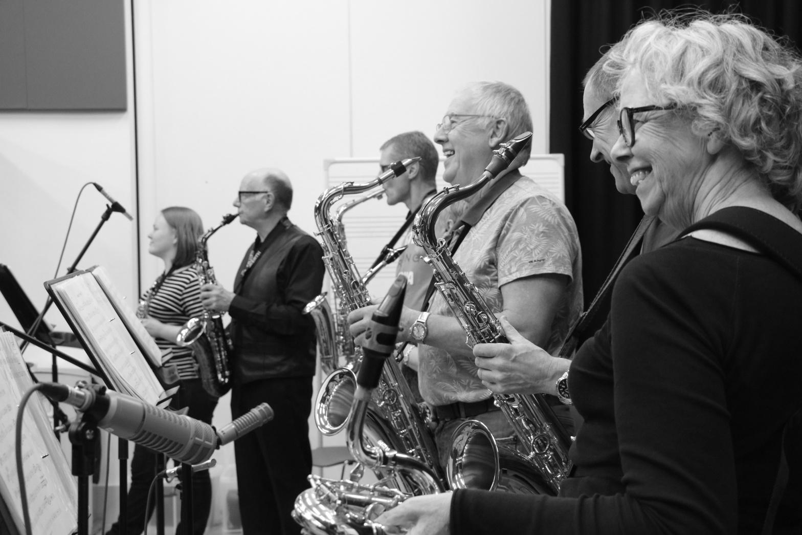 Guiseley Jazz band - recording session